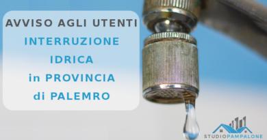 AMAP: Interruzione Idrica in Provincia di Palermo