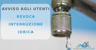 AMAP: Revoca interruzione idrica