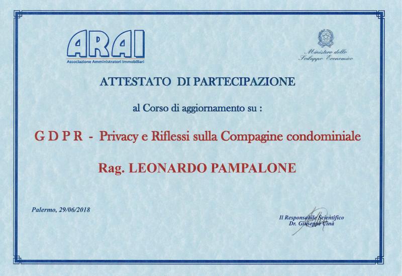 Attestato GDPR - Privacy e Riflessi sulla Compagine Condominiale